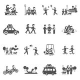 Outing Icons Set Royalty Free Stock Image
