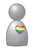 Outing till homosexualitet stock illustrationer