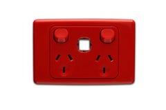 Outlaet eléctrico rojo de Australia Imagenes de archivo
