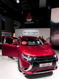 Outlander de Mitsubishi nos carros de IAA Foto de Stock