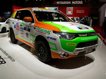 Outlander Genève 2014 de rassemblement de Mitsubishi Images libres de droits