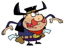 Outlaw Cowboy stock illustration