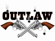 Outlaw pistols background Royalty Free Stock Image