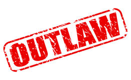 Outlaw red stamp text Stock Image