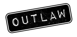 Outlaw rubber stamp Royalty Free Stock Image