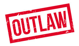 Outlaw rubber stamp Stock Photo