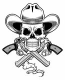Outlaw skull Royalty Free Stock Photography