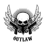 Outlaw t-shirt print design template. Stock Photos