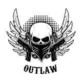 Outlaw t-shirt print design template. Stock Photos
