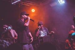 Outlawz生活音乐会在莫斯科俄罗斯 免版税库存照片