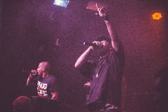Outlawz生活音乐会在莫斯科俄罗斯 免版税图库摄影