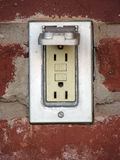 Outlet. Outdoor electric outlet Royalty Free Stock Photography