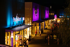 Outlet City Metzingen at Night. Late Night Shopping (3 July 2015) OutletCity Metzingen/Germany Stock Photography