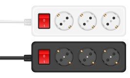 Outlet electrical socket stock illustration