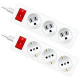Outlet electrical sockets Royalty Free Stock Photo