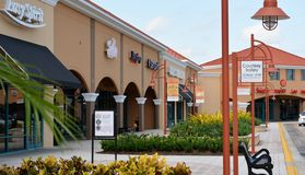 Outlet Mall Shops Stock Photography