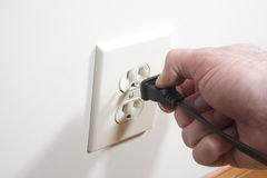Outlet and Plug Royalty Free Stock Photo