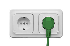 Outlet with power cord Stock Photos