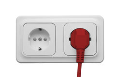 Outlet with power cord Royalty Free Stock Photography