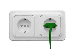 Outlet with power cord Royalty Free Stock Image