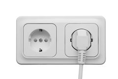 Outlet with power cord Royalty Free Stock Photo