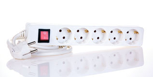 Outlet power strip Royalty Free Stock Images