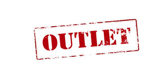 Outlet. Rubber stamp with word outlet inside,  illustration Royalty Free Stock Photos
