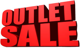 Outlet sale Stock Images