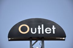 Outlet sign Royalty Free Stock Images