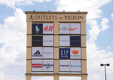 Outlet sign at Tejon Ranch Royalty Free Stock Images