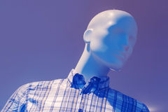 Outlet store boutique mannequin, male figure portrait Royalty Free Stock Photography