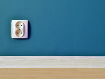 Outlet on wall background. High resolution color image Royalty Free Stock Photos