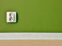 Outlet on wall background Stock Photography