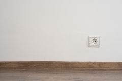 Outlet on wall Stock Photo