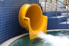 Outlet  waterslide Royalty Free Stock Photography