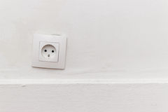 Outlet on the white wall Royalty Free Stock Photography
