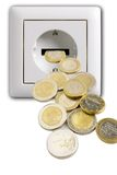 Outlet With Money Royalty Free Stock Photography