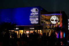 Outlets Metzingen. Late Night Shopping (3 July 2015) OutletCity Metzingen/Germany Stock Photography