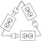 Outlets plug recycle renewable electric energy Stock Image