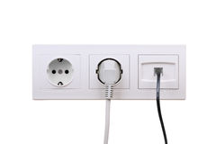 Outlets on wall Stock Photos