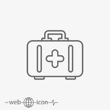 Outline aid kit vector icon Royalty Free Stock Photography
