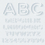 Outline Alphabet Set With Shadow Royalty Free Stock Photos