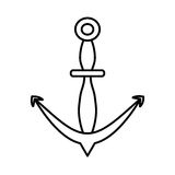 Outline anchor marine nautical sign. Vector illustration eps 10 Stock Image