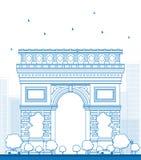 Outline Arch of Triumph. France Paris. Stock Image