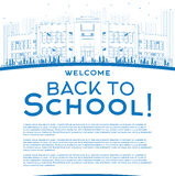 Outline Back to School Concept with copy space for text. Royalty Free Stock Images