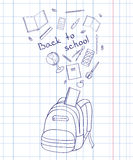 Outline of a backpack Royalty Free Stock Photography