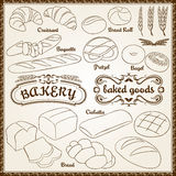 Outline Bakery Set Stock Images