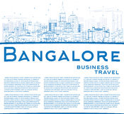 Outline Bangalore Skyline with Blue Buildings and Copy Space. Stock Images