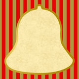Outline of a bell with red golden stripes Stock Photos