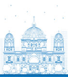 Outline Berlin Cathedral in Berlin Royalty Free Stock Image